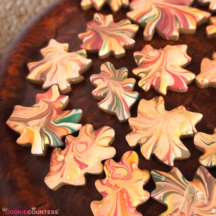 Easy Fall Leaves Dip & Swirl Cookies