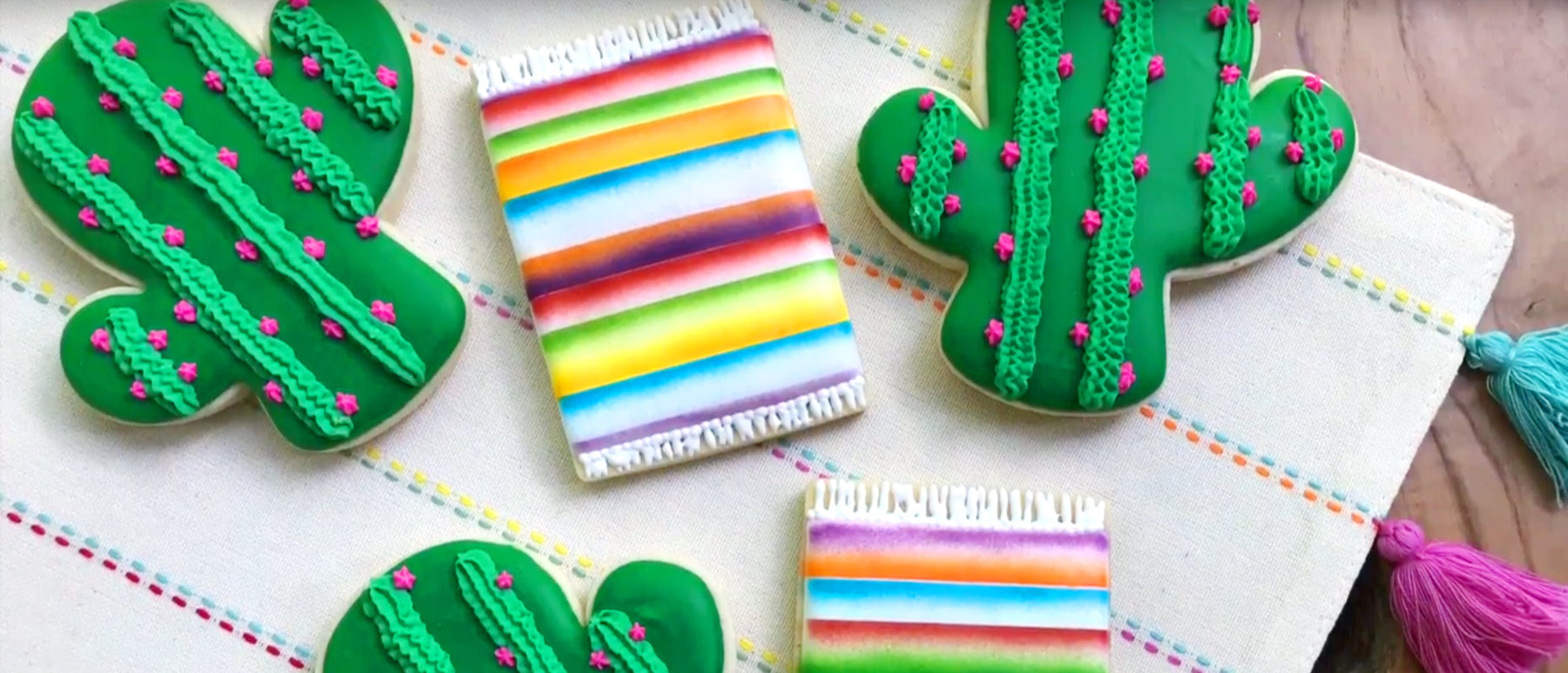 Make a Mexican Serape Blanket Cookie for Cinco de Mayo