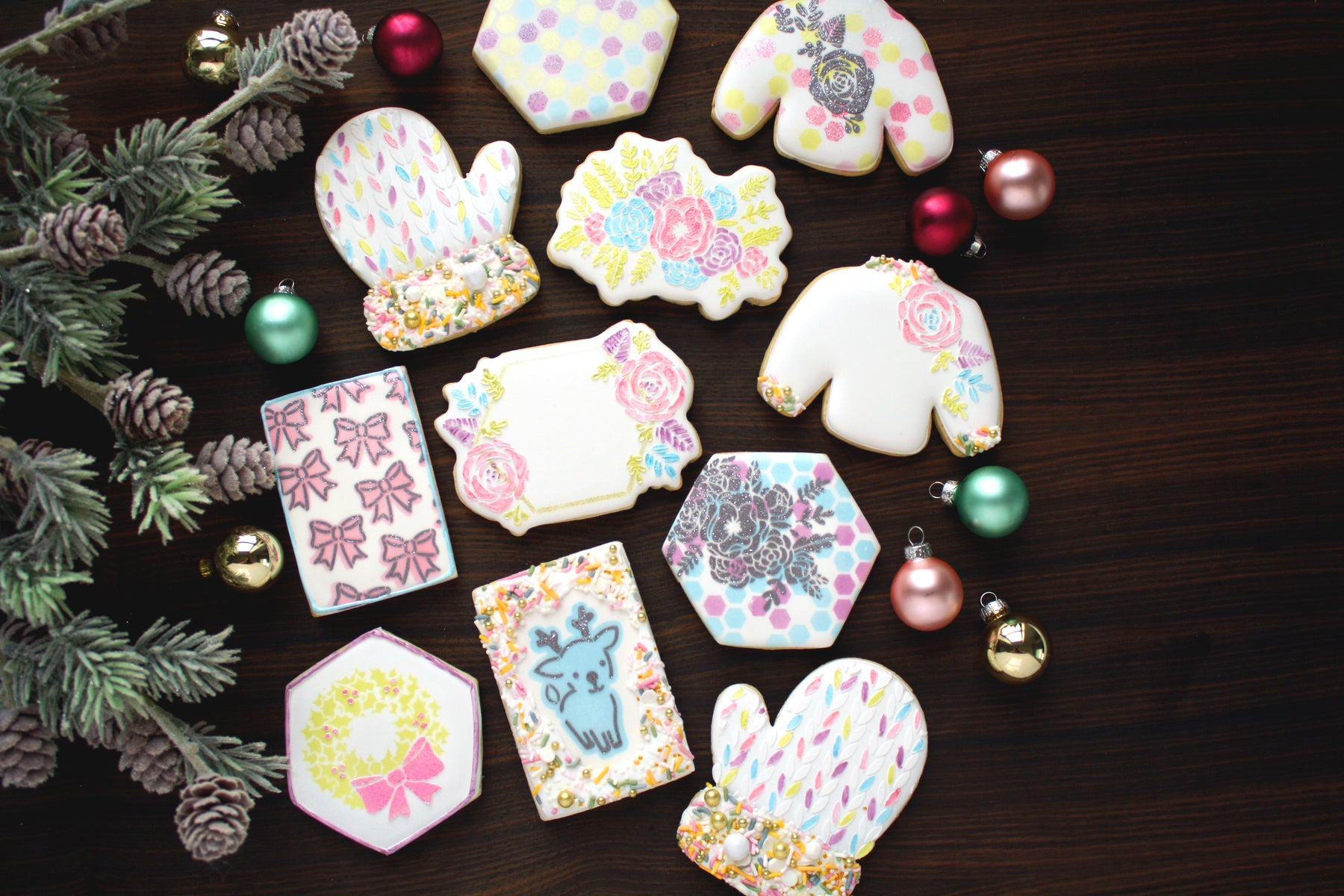 Vintage Inspired Pastel Christmas Cookies - How To