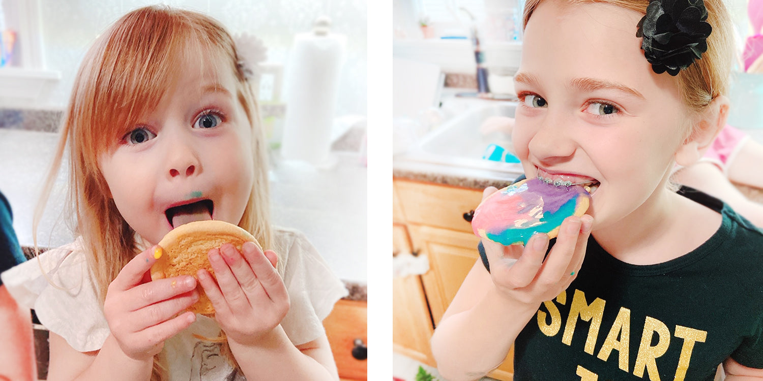 edible homemade cookie paint eating