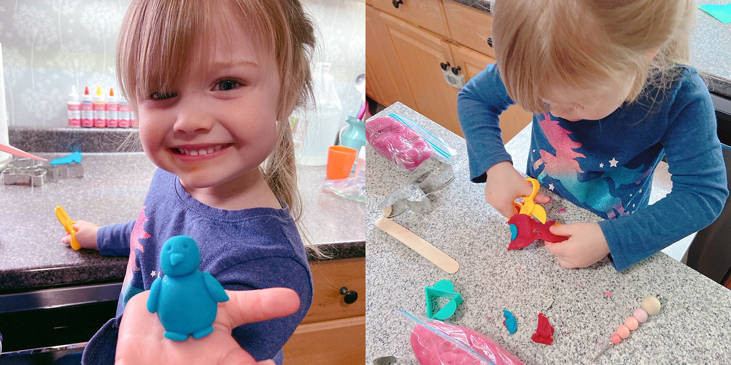 Homemade dough is great for fine motor skills building