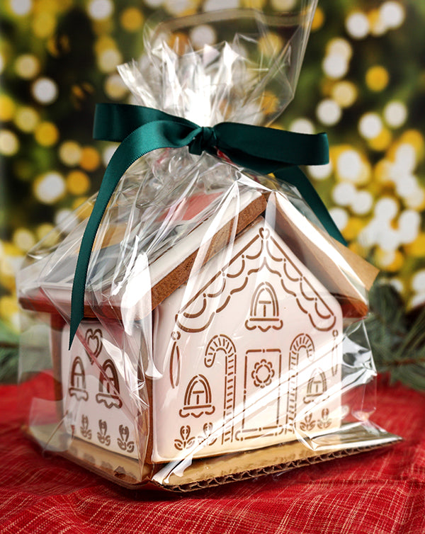 packaged gingerbread house