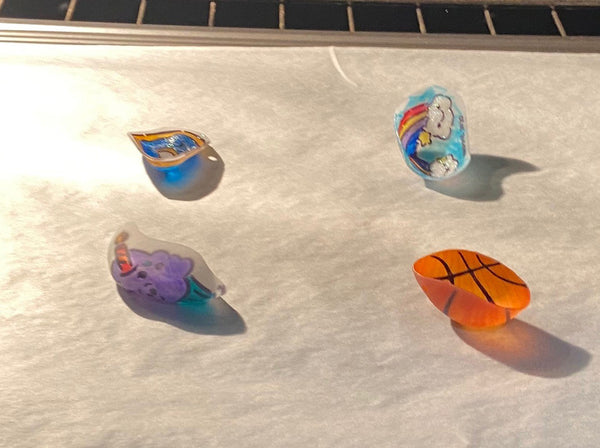 shrinky dinks in oven flat