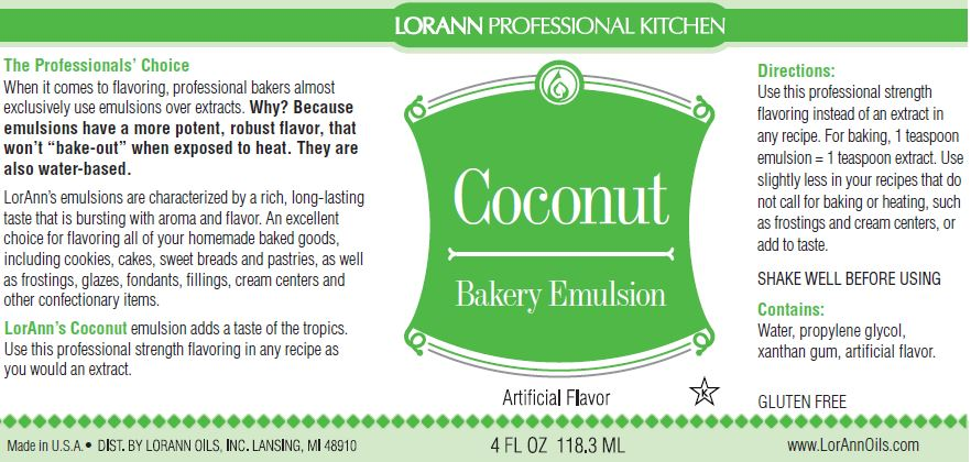Coconut Bakery Emulsion - 4 oz.