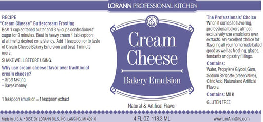 Cream Cheese Bakery Emulsion - 4 oz.