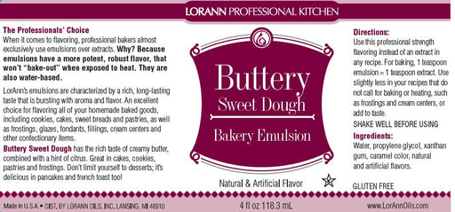 Buttery Sweet Dough Bakery Emulsion - 4 oz.
