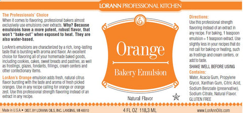 Orange (Natural) Bakery Emulsion - 4 oz.