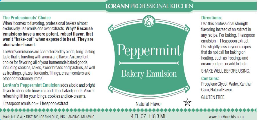 Peppermint Bakery Emulsion - 4 oz.