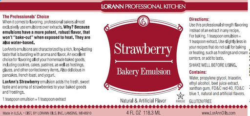 Strawberry Bakery Emulsion - 4 oz.