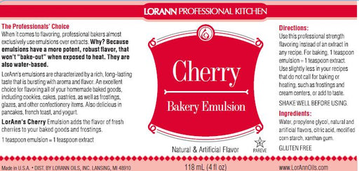 Cherry Bakery Emulsion - 4 oz.