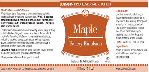 Maple Bakery Emulsion - 4 oz.
