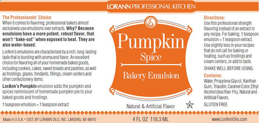 Pumpkin Spice Bakery Emulsion - 4 oz.