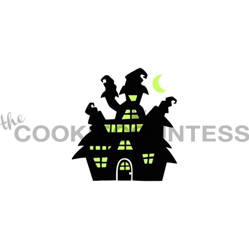 2 Piece Haunted House Stencil - Drawn by Krista