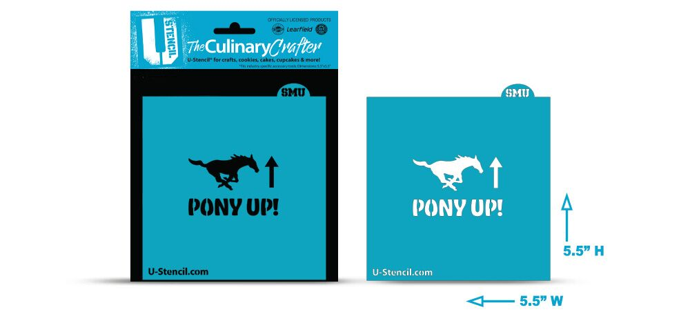 College Stencil -Southern Methodist University -Pony Up!