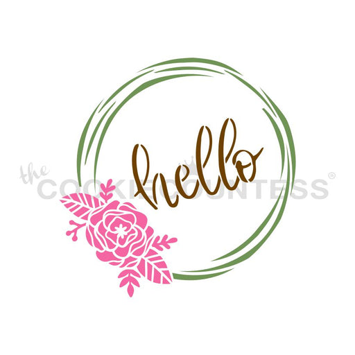 Hello Flowers Wreath 3 Piece