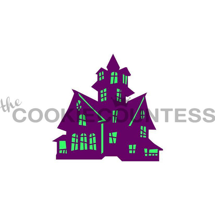 2 Piece Haunted House Stencil