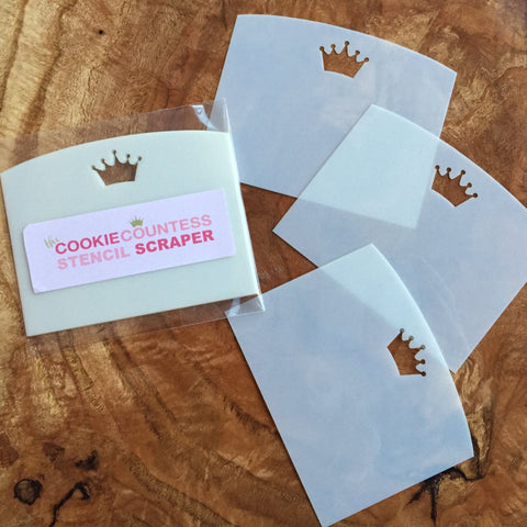 The Cookie Countess Stencil Scraper - 3 pack