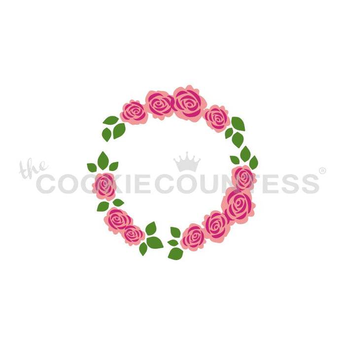 Floral Wreath 3 Piece Stencil