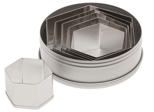 Ateco Hexagon 6 pc Set Cookie cutters