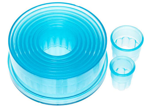 Ateco 9 Piece Cookie Cutter Set - Round Fluted