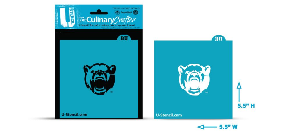 College Stencil-   Baylor-Bears-Face