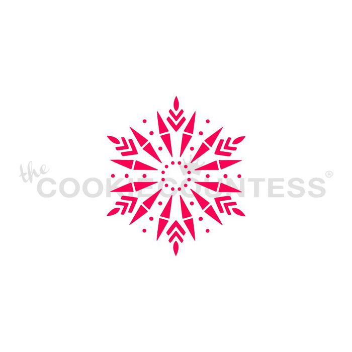 Arrows Snowflake Stencil