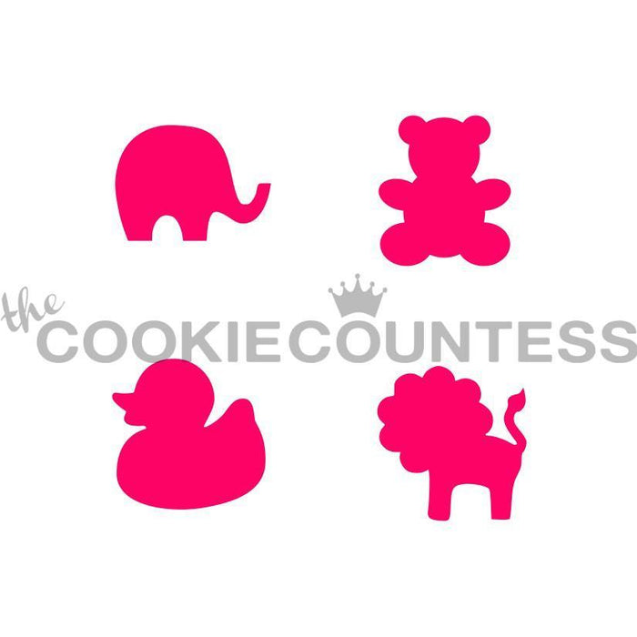 Baby Animals 4-some Mini / Macaron Stencil