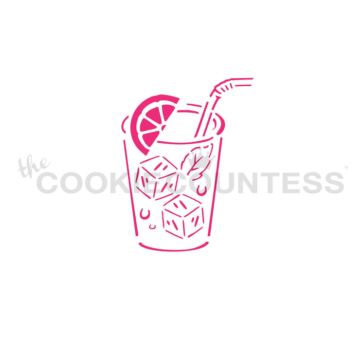 Lemonade Glass PYO Stencil