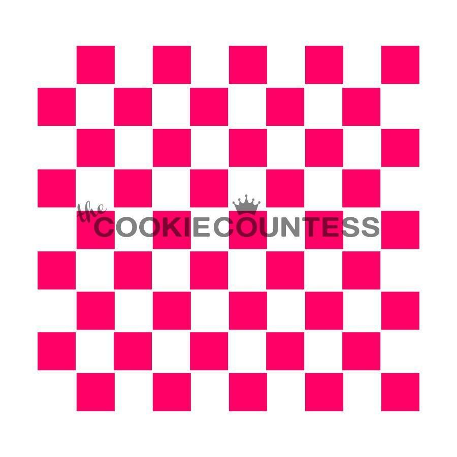 Candy Stencil Plaid Mantel airbrushing for cake tops Cookie stencil Cupcake stencil for Royal Icing Cake Stencil 4 square and 3 round cookies powder sugars Coffee Stencil