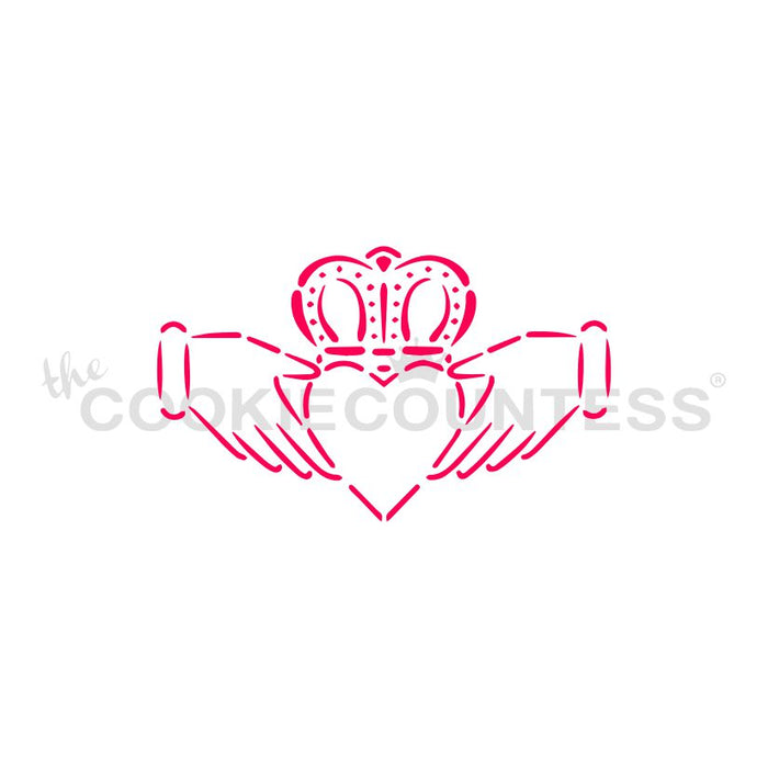 Claddagh Design Stencil