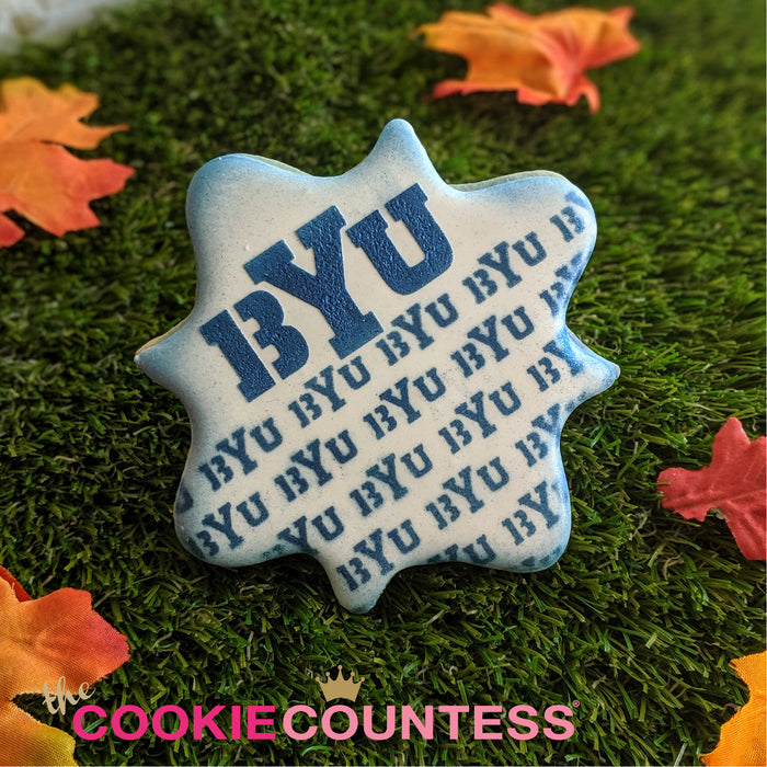 College Stencil - Brigham Young University- BYU REPEAT