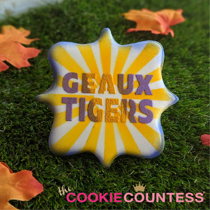 College Stencil - Louisiana State - GEAUX TIGERS