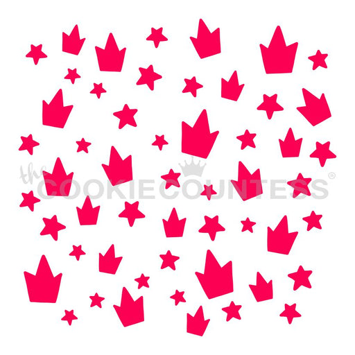 Crowns and Stars Stencil