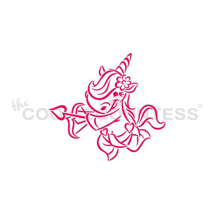 Cupid Unicorn PYO Stencil - Drawn by Krista