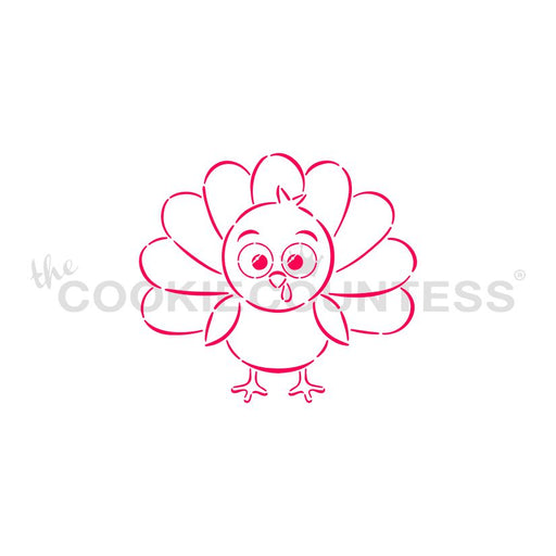 Cute Turkey Stencil