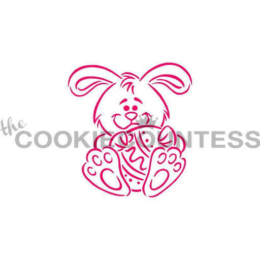 Bunny And Egg Pyo Stencil Drawn By Krista The Cookie Countess