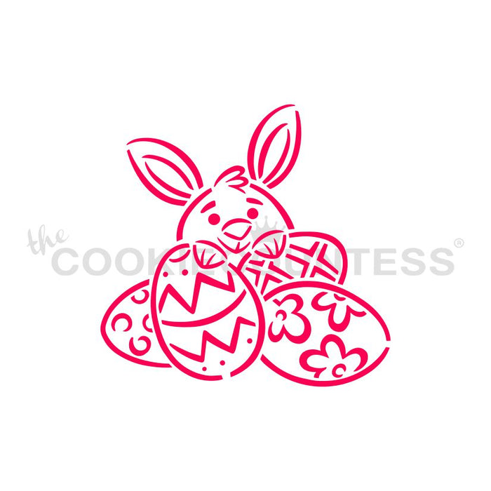 Drawn With Character - Bunny Behind Eggs PYO