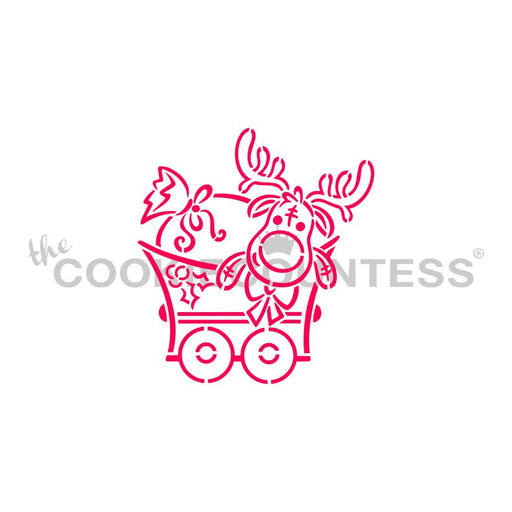 Christmas Train Moose PYO Stencil - Drawn by Krista