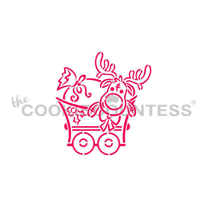 Christmas Train Complete set of 5 Stencils (STENCILS ONLY)