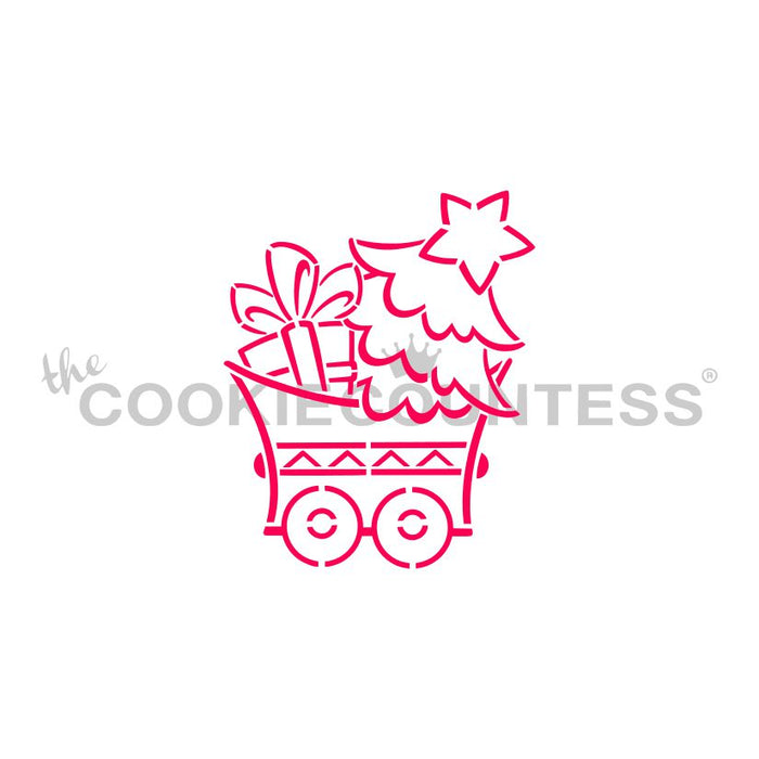 Christmas Train PYO Set - Five Stencils & Two 3D Cookie Cutters