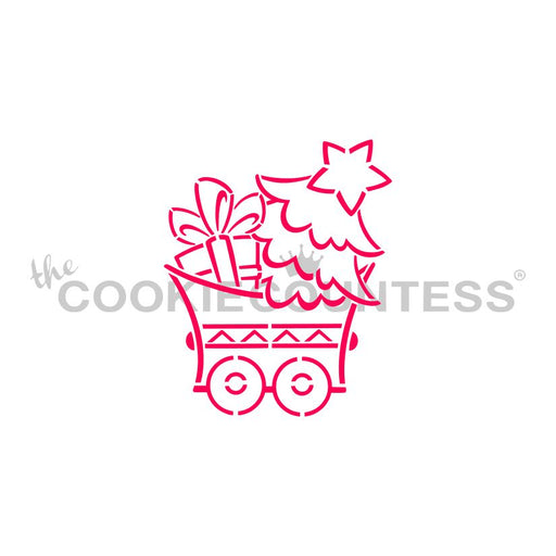 Christmas Train Tree Car Stencil - Drawn by Krista