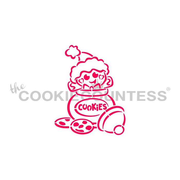 Cookie Jar Gingerbread PYO Stencil - Drawn by Krista