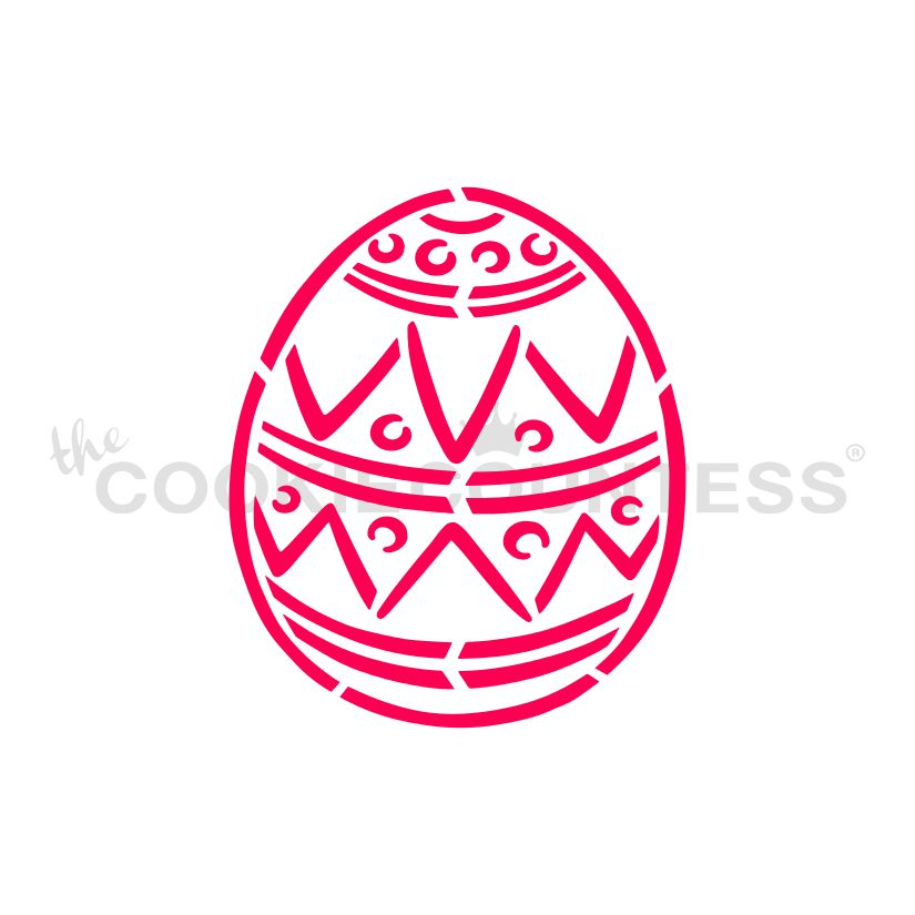 Easter Egg 1 Pyo Stencil Drawn By Krista The Cookie Countess