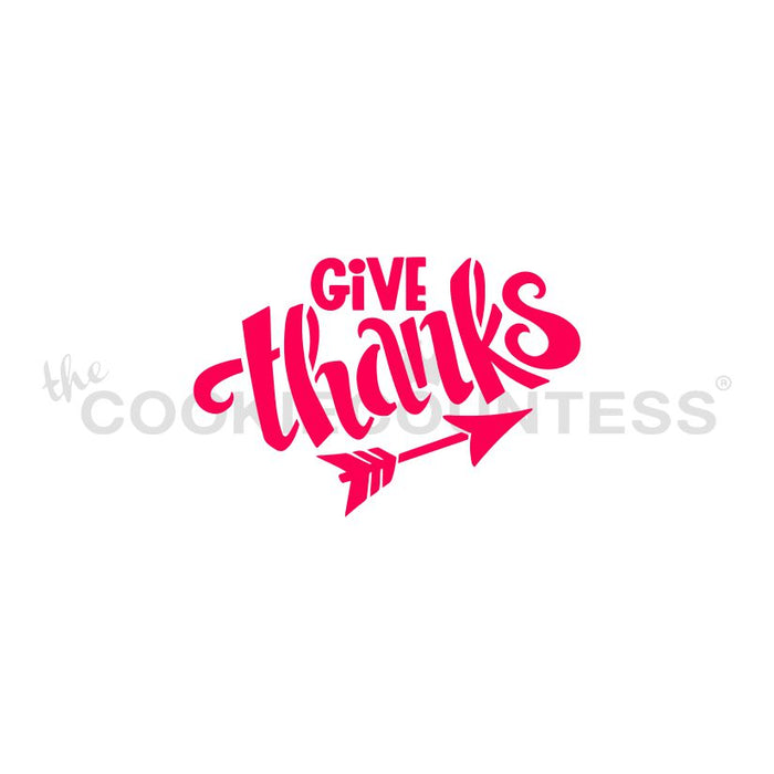 Give Thanks Stencil - Drawn by Krista