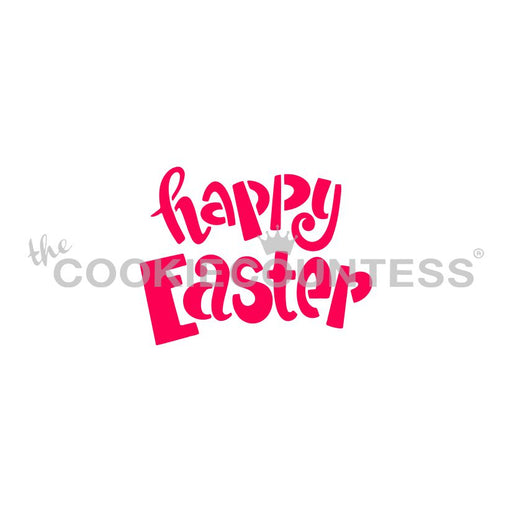 Happy Easter Fun Font Stencil - Drawn by Krista
