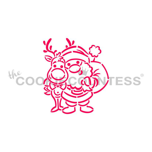 Drawn with Character -Santa and Rudolph