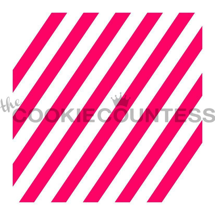 Diagonal Wide Stripe Stencil