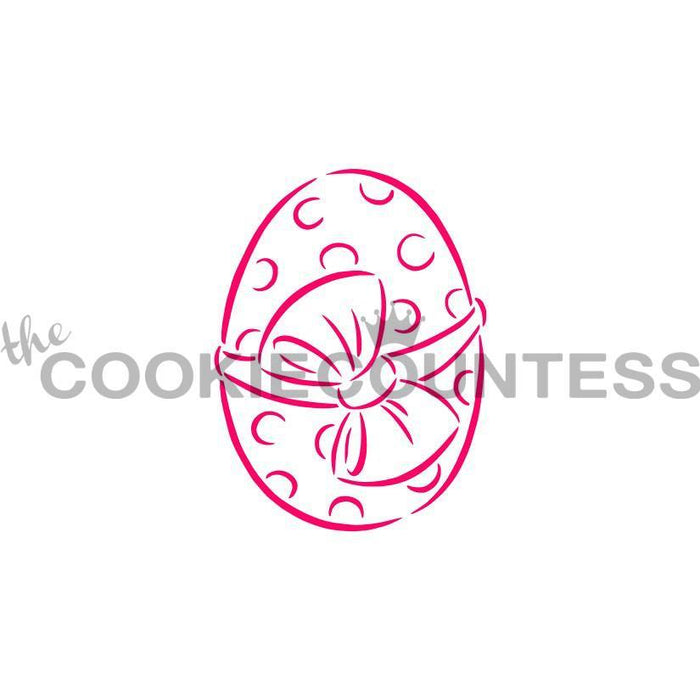 Easter Egg with Bow Stencil - Drawn by Krista