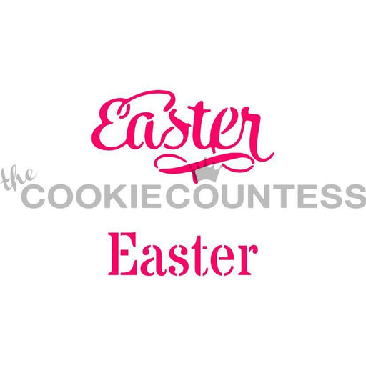 Easter in 2 Fonts Stencil