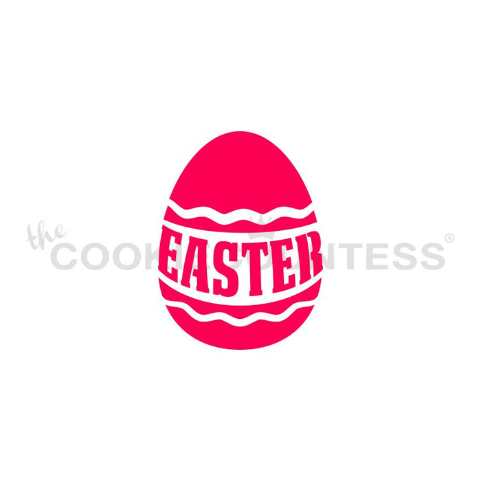 Easter Wrapped Egg Stencil